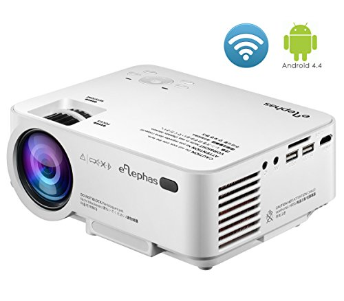 Wifi mini projector elephas built in android with for Led pocket projector