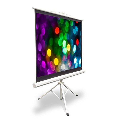 Large Portable Screen Rolled Up : Upgraded pyle ″ projector screen with floor standing