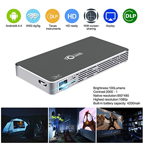 Mini pico projector hd dlp projector hdmi 1080p portable for Bluetooth projector for iphone